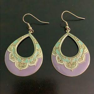 Lavender Asian Earrings